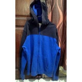 Jaket Zip Hoodie Old Navy Blue & Black Original, DISKON ABIS