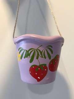 Handmade hanging pot (Purple)