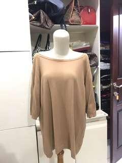 Zara Knit Oversize Sabrina Top