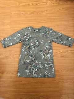 Old Navy Dress Gray Floral