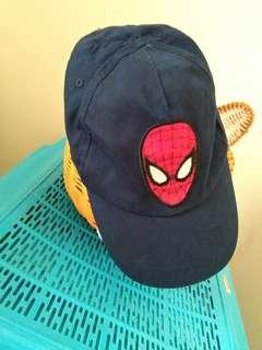 topi spiderman boy dark blue colour
