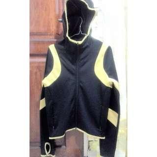 Jaket Hoodie Nike Therma-Fit Black Gold Original untuk jogging
