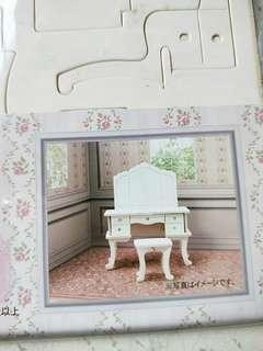 DIY wooden craft mini doll dressing table furniture