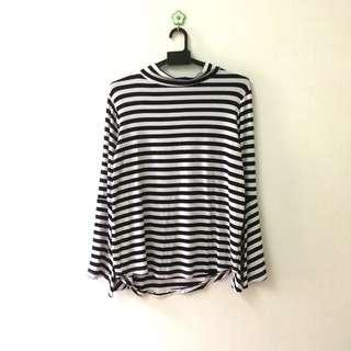 Turtleneck Stripe Shirt #BlackFriday100 #BFfashion