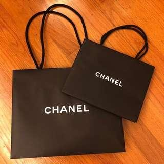 Chanel Fashion Boutique 紙袋 Paper Bag 2個