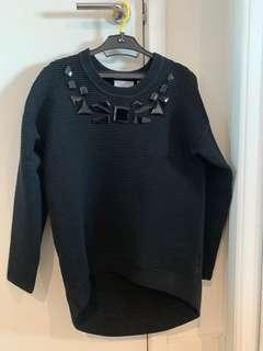 Sass & Bide thick mid length black jumper loose fit