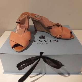 Lanvin Nude Lace Up Espadrilles