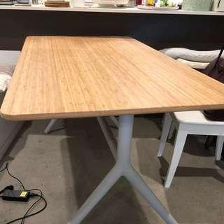 Almost new bamboo table