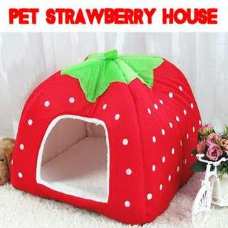 🚚 TPE020 Pet Strawberry House for Small Animal Brand New Sales