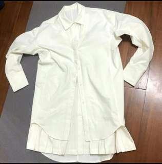 🚚 歐膩的白色長襯衫洋裝