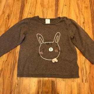 H&M Cute Brown Bunny Knitted Shirt