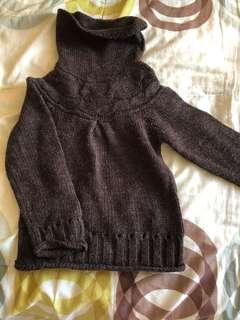 Knitted Winter Top Brown