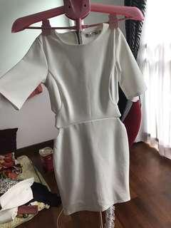 Dorothy perkins white cut out dress