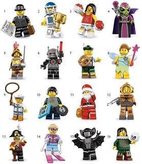 LEGO 8833 Minifigure Series 8 (Full Set of 16)