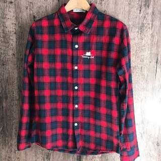 紅藍綠格仔恤衫 checked shirt