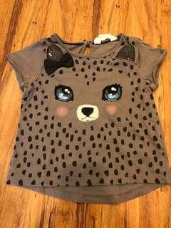 H&M Cute Grey Fox Shirt