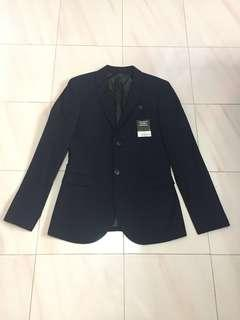 🚚 *$89*BN Topman Skinny Navy Textured Business Blazer 36R