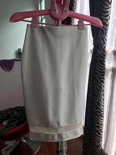 Dorothy perkins white mesh midi dress