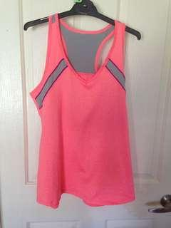 Size large pink active wear top