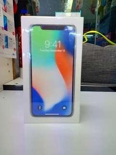 Apple iPhone X 64GB Smartphone Silver Promo Bunga 0%