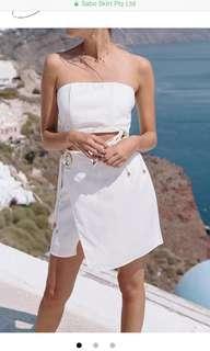 Sabo Skirt White Mini Skirt