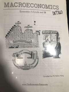 A level H2 Economics Macroeconomics notes complied by Kelvin Hong