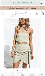 Sabo Skirt Pastel Green Mini Skirt