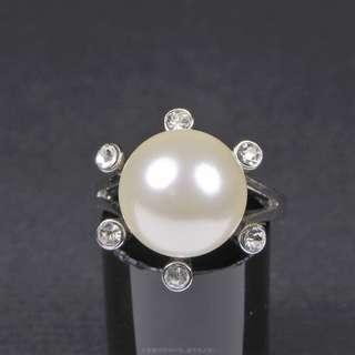 珍珠林~新品又來一批了~最高級南洋貝珍珠..ORIGEM..發財珍珠戒.內徑16.17.18MM #138