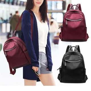 ⚡BUY 2 $50 ⚡ Women Ladies Korean Fashion Backpack Shoulder PU Nylon Oxford Canvas Bag