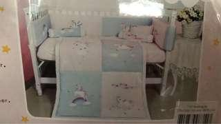 BabyDream 7 pieces crib set - Unicorn (New)