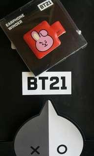 BT21 x Monopoly Earphone Winder - Cooky