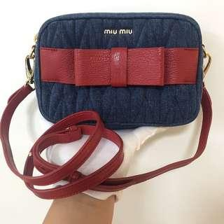 MIU MIU Denim Sling Bag 100% AUTHENTIC+BRAND NEW! #9Y14BJ