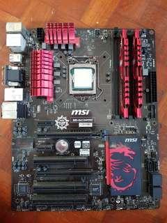 MSI B85-G43 GAMING Motherboard w CPU & RAM
