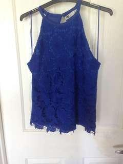 Size small royal blue top