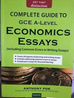 A level Economics essay guide by Anthony Fok