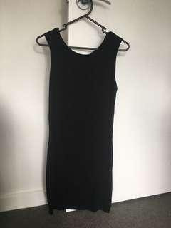 Boohoo Black Sleeveless Bodycon Dress