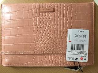 MANGO Soft Pink Clutch