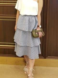 Two way plaid dress/skirt