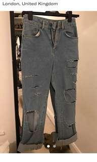 Ragged priest ripped mom jeans