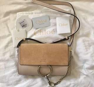 Authentic nude pink Chloe Faye mini shoulder bag crossbody