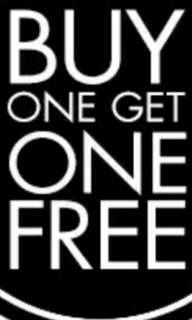 Buy one FREE one. Until 31 Jan 2019