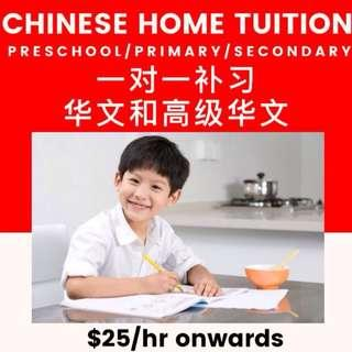 Chinese Tuition |  PSLE Secondary O Level Home Tuition | Chinese Tutor for Primary | Chinese Private Tuition Teacher | Chinese Tutor Preschool | Higher Chinese Tutor |  MOE Teacher | One to One Chinese Tuition K1 K2 Kindergarten | Chinese Composition