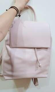 Charles and Keith baby pink backpack