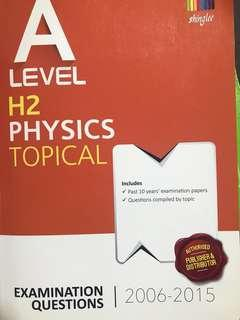 A level H2 Physics Topical TYS 2006-2015