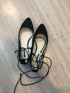 Zara Lace-Up Flats