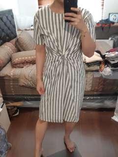 Batik lurik knot dress
