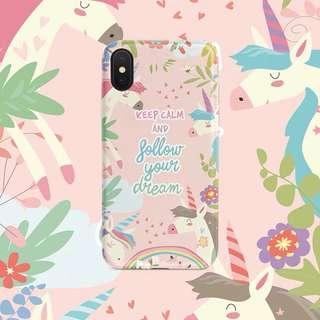 [preorder] iphone Xs unicorn pink follow your dream case