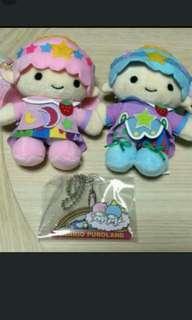 Sanrio Puroland 樂園限定little Twin Stars 公仔及charm #sellfaster