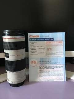 Canon EF 70-200mm f/4.0 L IS U 行貨