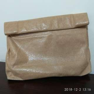 Marie Turnor 真皮 Lunch paper bag clutch made in usa